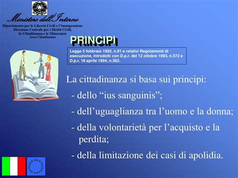 ministero interni cittadinanza ppt la cittadinanza italiana powerpoint presentation