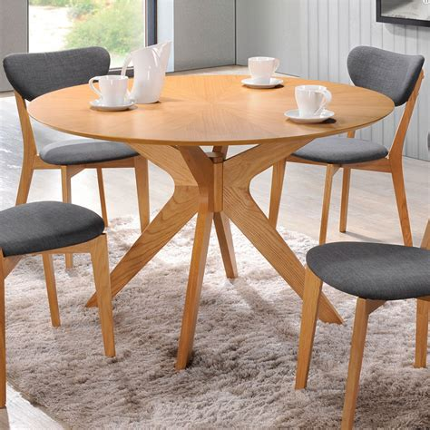 half round dining table dining room contemporary with gray balboa modern round dining table in oak eurway