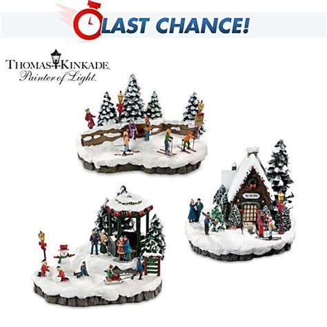 bradford exchange home decor 44 best thomas kinkade christmas village images on