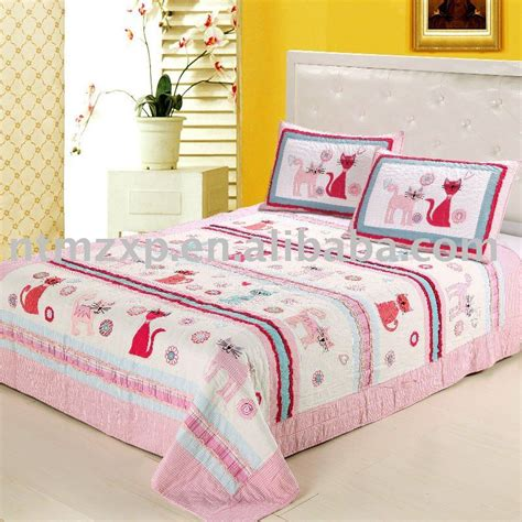 cat comforter sets lovely pink cat applique bedding set quilt bedspread