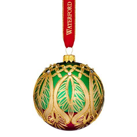 waterford nostalgic peacock grande ball ornament 2017