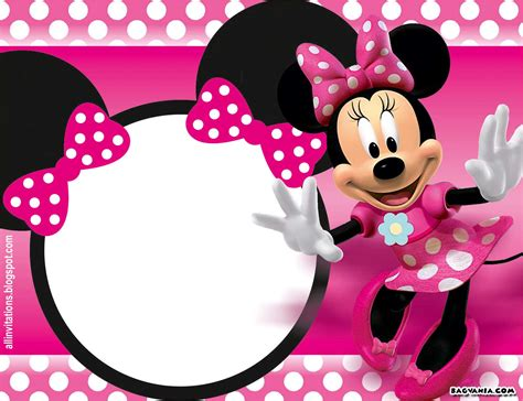 Minnie Mouse Template Invitation free printable minnie mouse birthday invitations