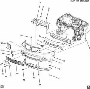 2007 Pontiac Torrent Parts Pontiac Torrent Bumper Front