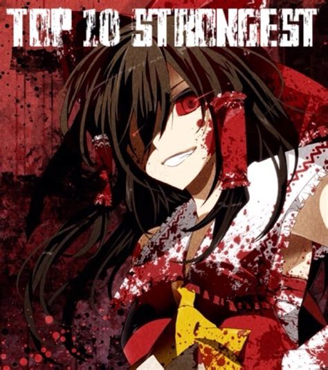 best touhou touhou top 10 strongest characters anime amino