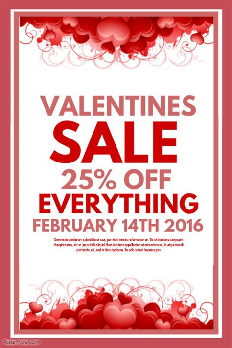 valentines for sale valentines sale template postermywall