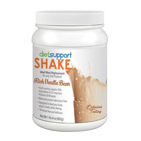 Detox Meal Replacement Shakes by Diet Support Meal Replacement Shake Rich Vanilla Bean