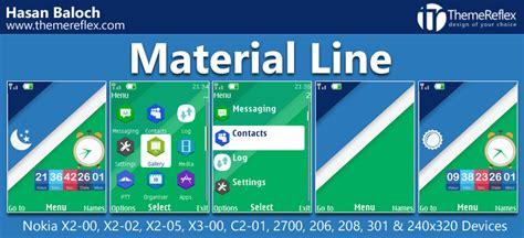 theme line x material line theme for nokia x2 00 x2 02 x2 05 x3 00