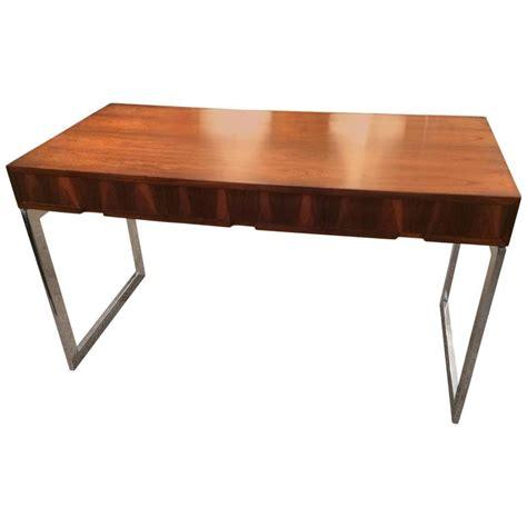 Sleek Desk   sleek milo baughman style writing desk at 1stdibs
