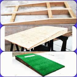 diy portable pitching mound wood projects