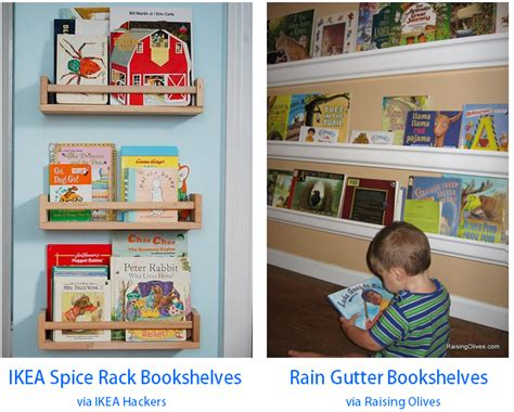 diy spice rack bookshelf diy gutter bookshelves for bright horizons
