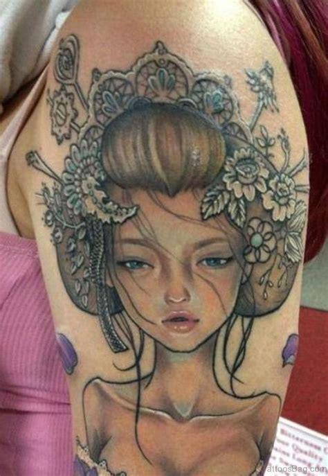 geisha ink tattoo 65 graceful geisha tattoos on shoulder