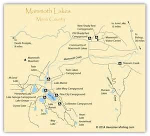 california map mammoth lakes mammoth lakes fishing map eastern fishing maps