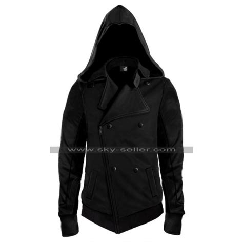 Jaket Anime Assassins Creed Casual Jacket Hoodie Jw Asc 02 assassin s creed callum lynch black leather hoodie