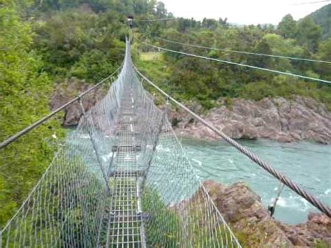 swing bridge nz new zealand s longest swingbridge buller gorge youtube