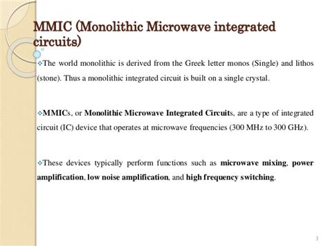 monolithic microwave integrated circuits part 1 arrl monolithic ic