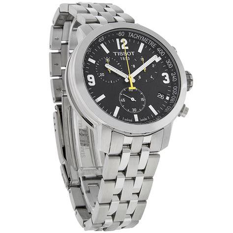 Tissot T1 Prc 200 Silver Black tissot prc 200 mens black swiss quartz chronograph