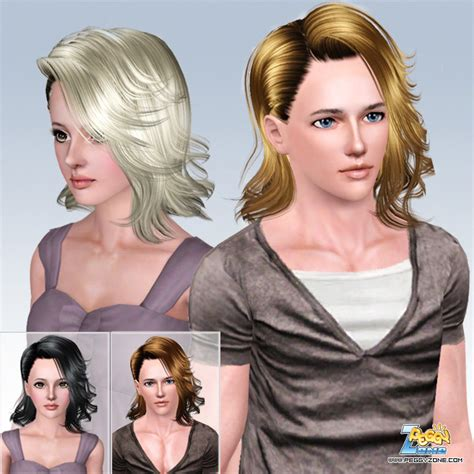 sims 3 male medium hair the sims 3 caught in one side hairstyle id 586 by peggy zone