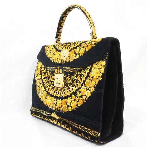 With Versace Purse by Vintage Gianni Versace Atelier Handbag Medusa Flap