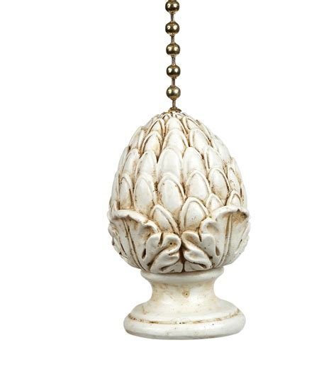 Clementine Designs Ceiling Fan Pull by Antiqued Artichoke Decorative Ceiling Fan Light Pull