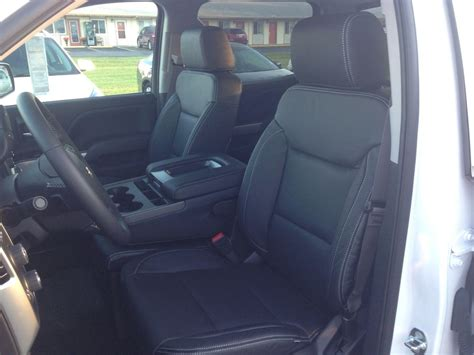 2015 chevy silverado leather seat covers 2014 2015 chevrolet silverado crew cab black katzkin