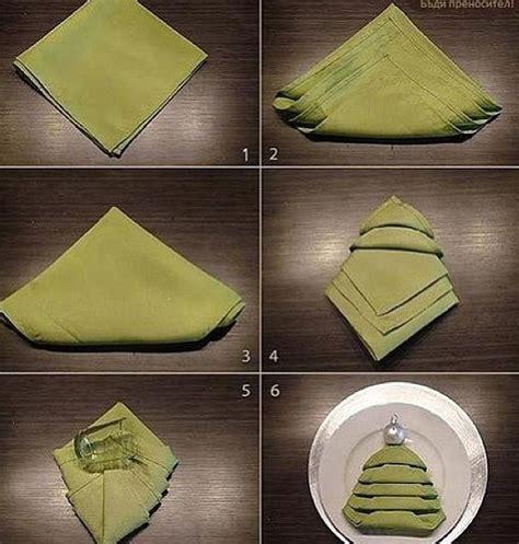 Ideas For Folding Paper Napkins - tree napkin folding diy servetten plooien