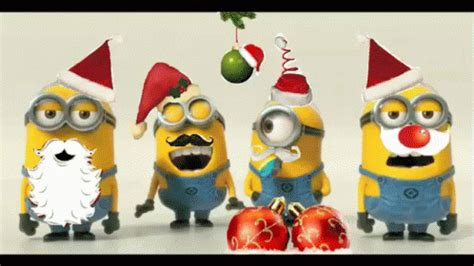 minion merry christmas gif minion merrychristmas lol discover share gifs