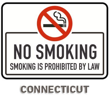 no smoking sign law connecticut no smoking sign by safetysign com r5747