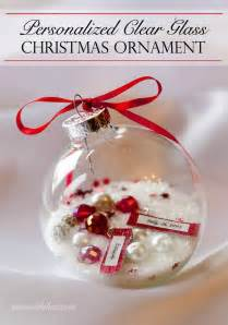 personalized clear glass christmas ornament gift time