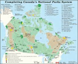 national parks canada map