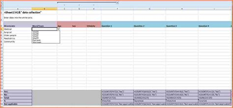 Exles Of Excel Spreadsheets For Data by 6 Data Spreadsheet Template Excel Spreadsheets