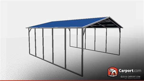 Metal Roof Car Shelter by 18 X 21 Vertical Roof Metal Carport Shelter Metal