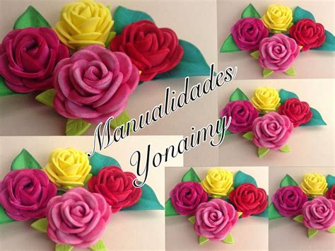 rosas pequenas de foamy o goma eva small foam roses manualidades yonaimy rosas peque 209 as de foamy o goma eva