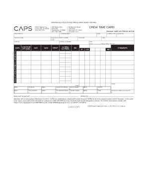 crew time card template time card template forms fillable printable sles
