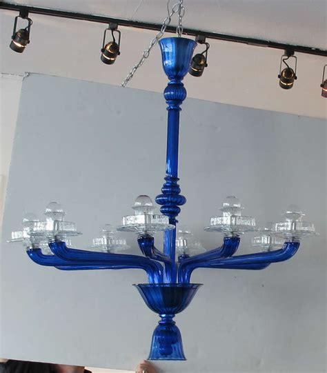 Cobalt Blue Chandelier Murano Cobalt Blue Chandelier At 1stdibs