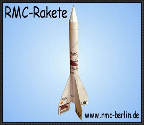 flying paper model rmc rocket free template