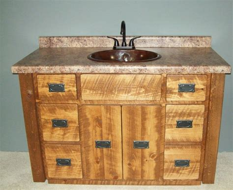 Western Style Bathroom Vanities by Log Bathroom Cabin Furniture Generation Log Furniture