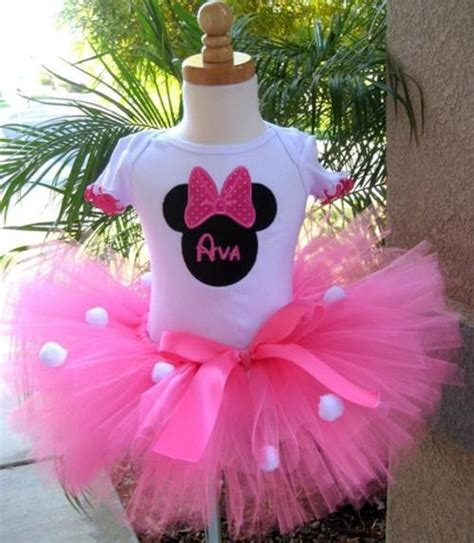 Set Tutu Mickey 3 9bulan dresses skirts minnie mouse tutu set was sold for r200