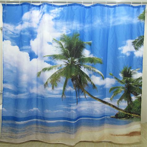 beach fabric shower curtain popular beach fabric shower curtain buy cheap beach fabric