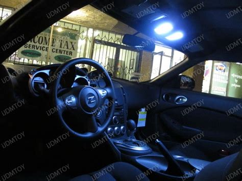 vehicle repair manual 2011 nissan 370z interior lighting super bright and real color led interior lights for nissan 370z ijdmtoy automotive lighting blog