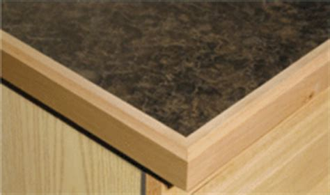 Laminate Countertops With Wood Trim by Maple