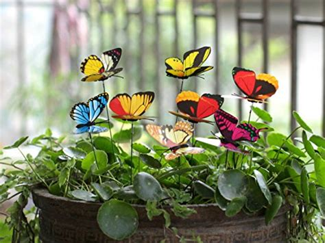 Butterfly Garden Decor Ginsco 25pcs Butterfly Stakes Outdoor Yard Planter Flower Pot Import It All