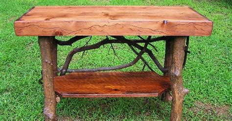 Tree Trunk Shelf by Rustic Tree Trunk Console Entry Table Handmade Sofa Table
