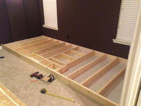How To Build A Media Room - diy i built a riser for my theater media room diy