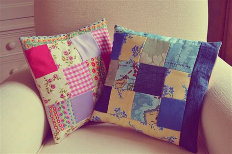 How To Make A Patchwork Cushion - diy patchwork cushion covers vintage vicar