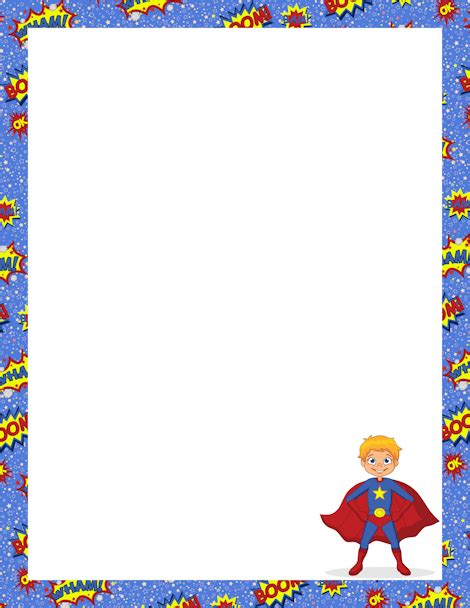 printable heroes download printable superhero border free gif jpg pdf and png