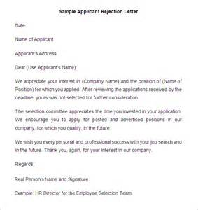 Rejection Letter Template For Applicants by 29 Rejection Letters Template Hr Templates Free