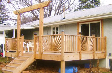 deck railing bench design plans sunburst deck railing plans home design ideas