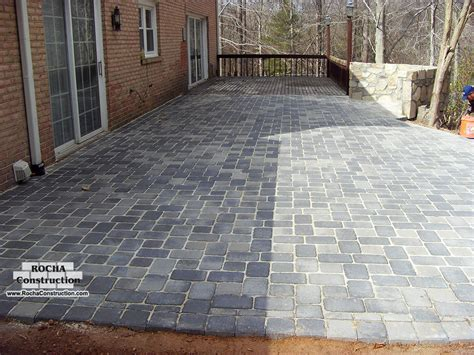 Patio Pavers Without Digging Paver And Brick Patios Rocha Construction Silver Md