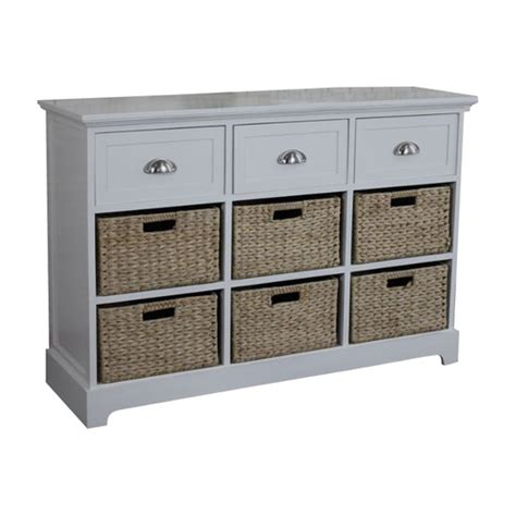 Basket Chest Of Drawers by Gallerie Decor Newport 3 Drawer 6 Basket Chest Reviews