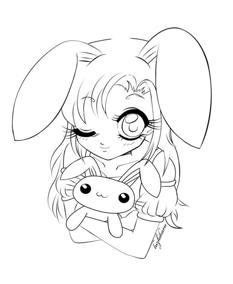 girl bunny coloring pages bunny girl by luzhikaru on deviantart